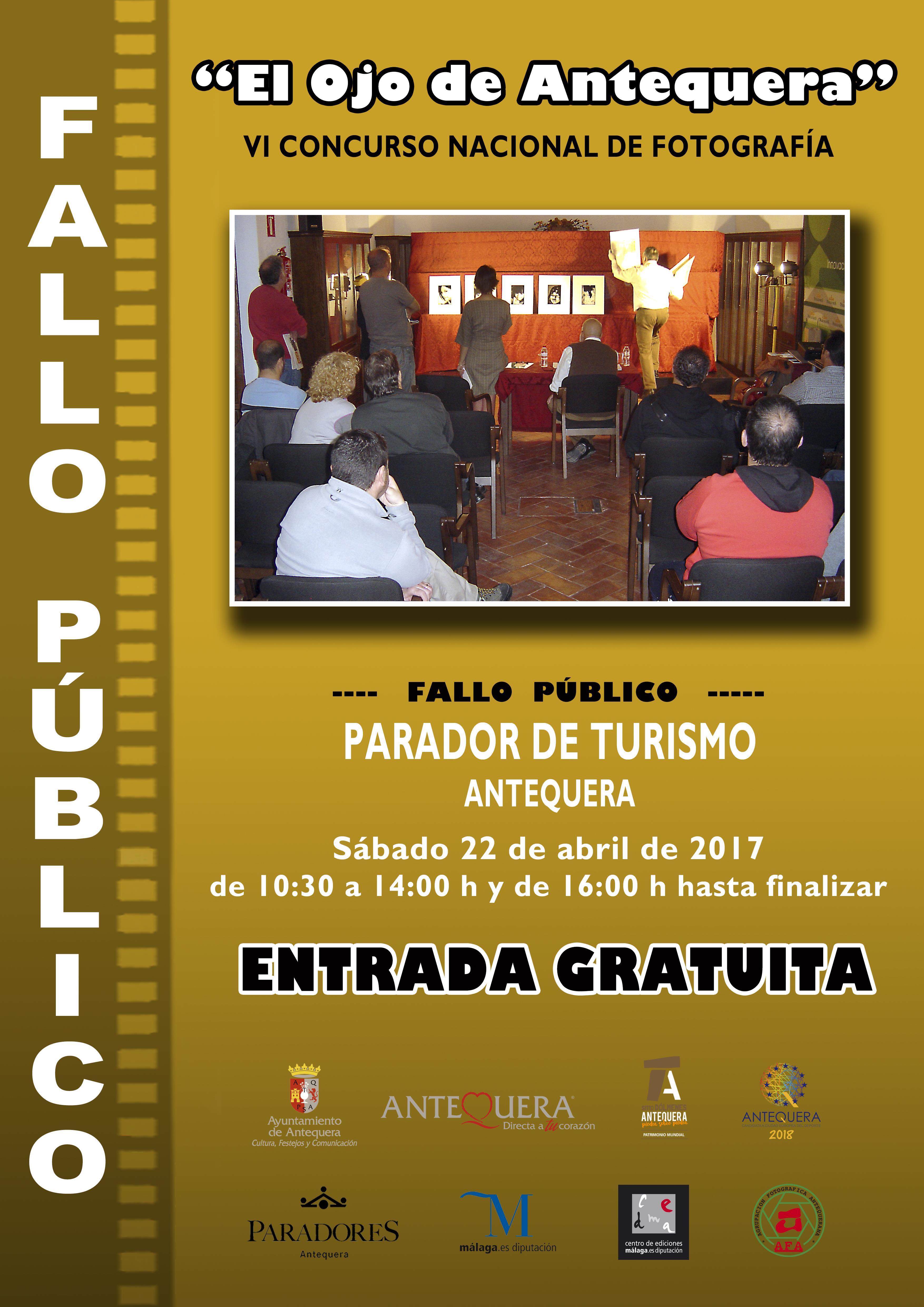 Cartel Fallo Público VI Concurso Nacional de Fotografía El Ojo de Antequera (Copy)