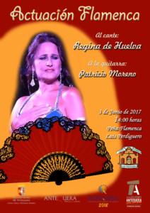 Actuación Flamenca en la Peña Flamenca Luis Perdiguero. Regina